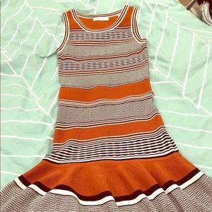 Sandro sleeveless dress with stripes